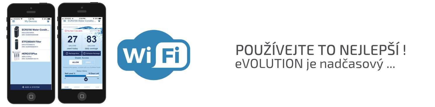 Wifi připojení a hi-tech technologie změkčovačů vody EcoWater