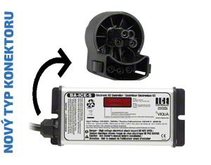 Náhradní řídící jednotka (zdroj) určená pro UV lampy VIQUA VH410 (nový typ konektoru). Zobrazuje také odpočet dní do výměny UV zářivky.